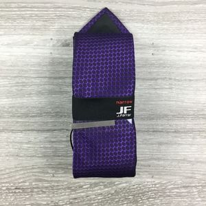 JF J. Ferrar Black & Purple Honeycomb Pattern Tie